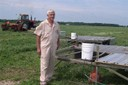 R. Schlatter with broiler coops OH 2006